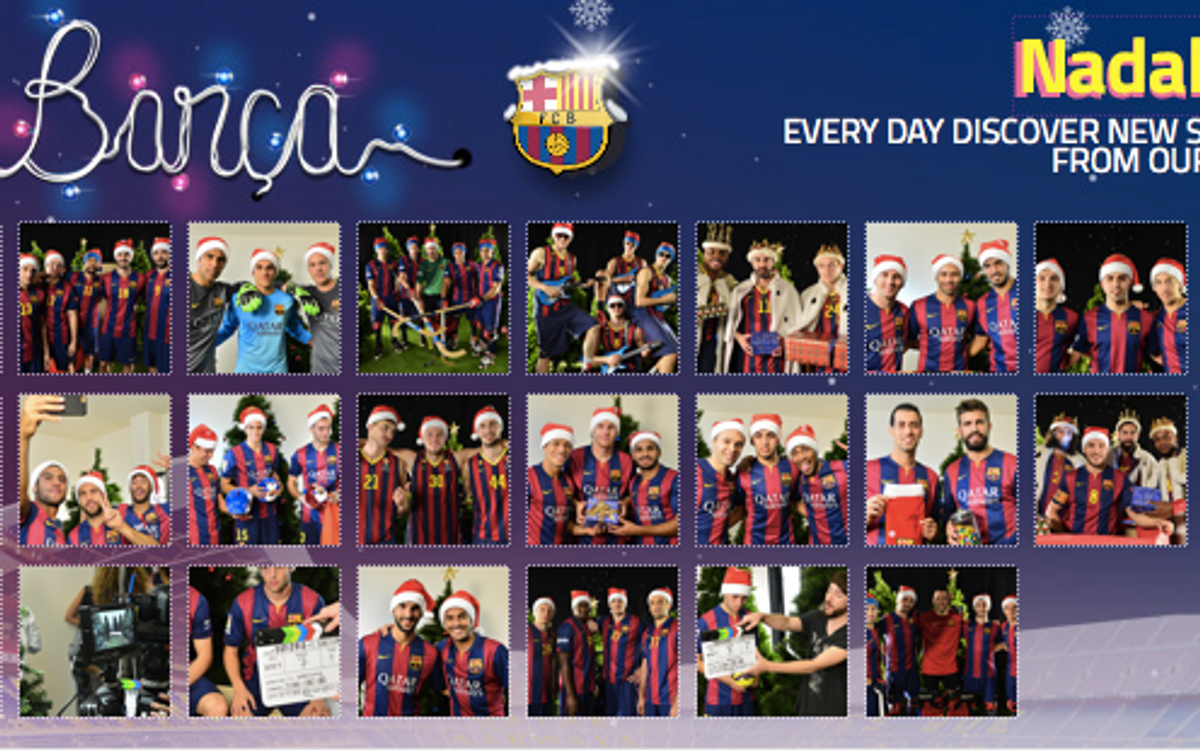 The complete FC Barcelona advent calendar