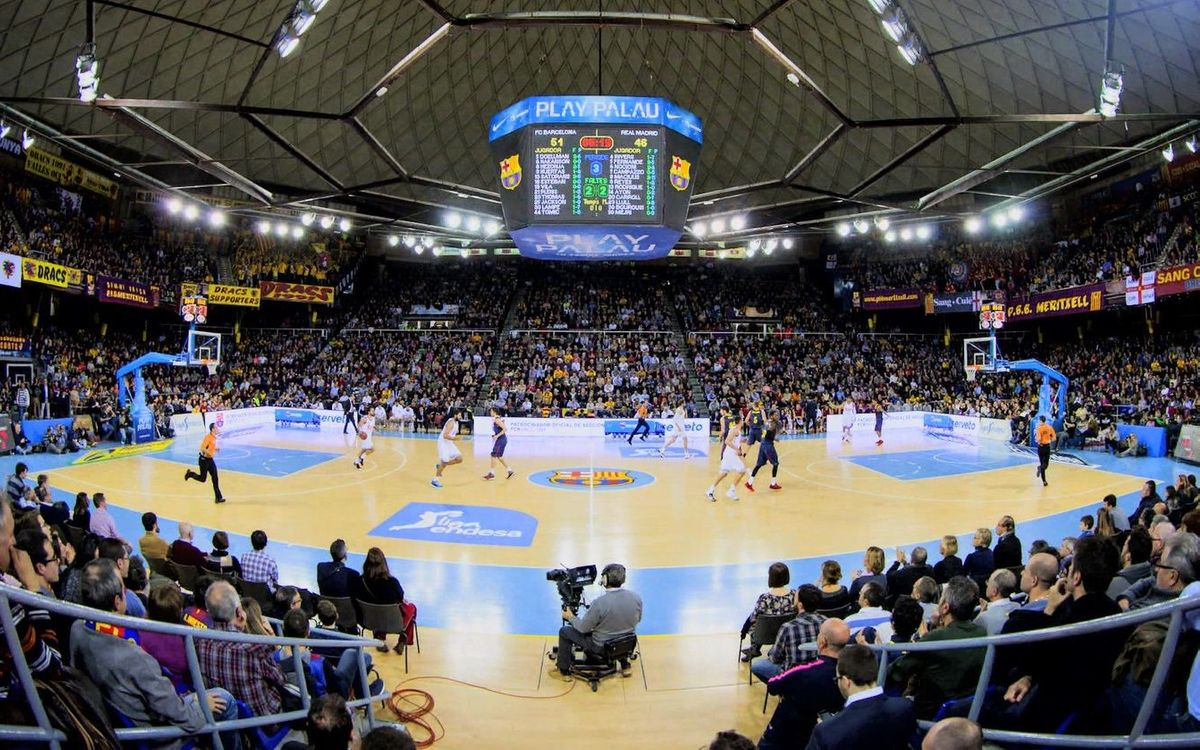 Time-lapse of Palau Blaugrana for FC Barcelona v Real Madrid
