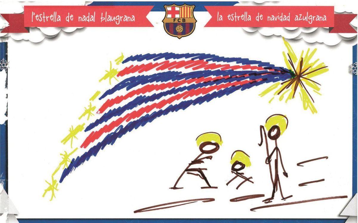 Escollida la felicitació de Nadal del FC Barcelona per a aquestes festes