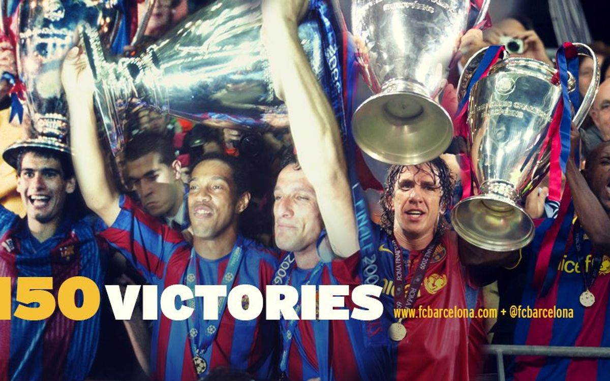 150 FC Barcelona victories in the Champions League