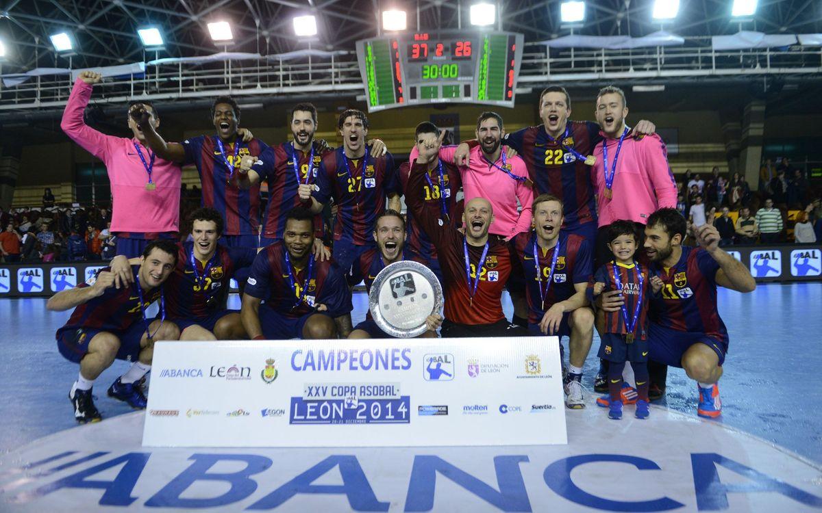 La desena Copa Asobal viatja cap a Barcelona amb el Barça d'handbol