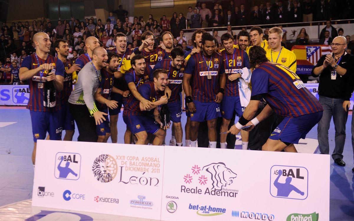 El Barça d'handbol domina la Copa Asobal