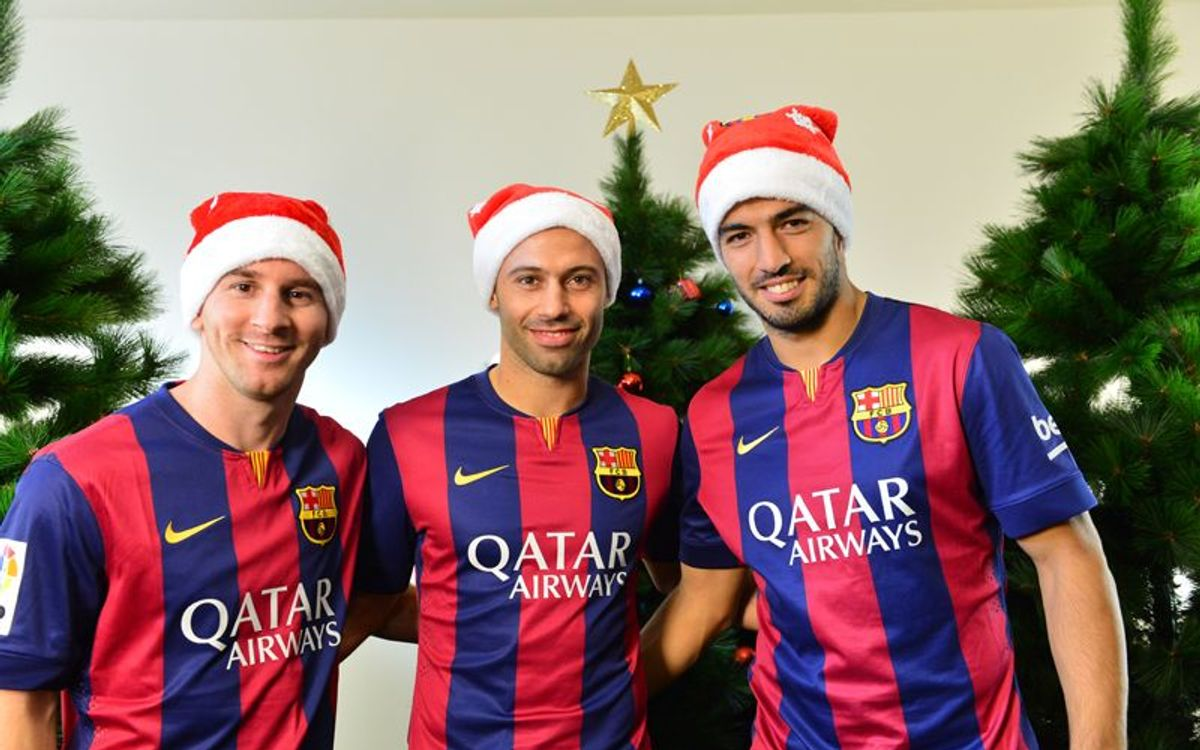 A Merry Christmas from everyone at FC Barcelona!