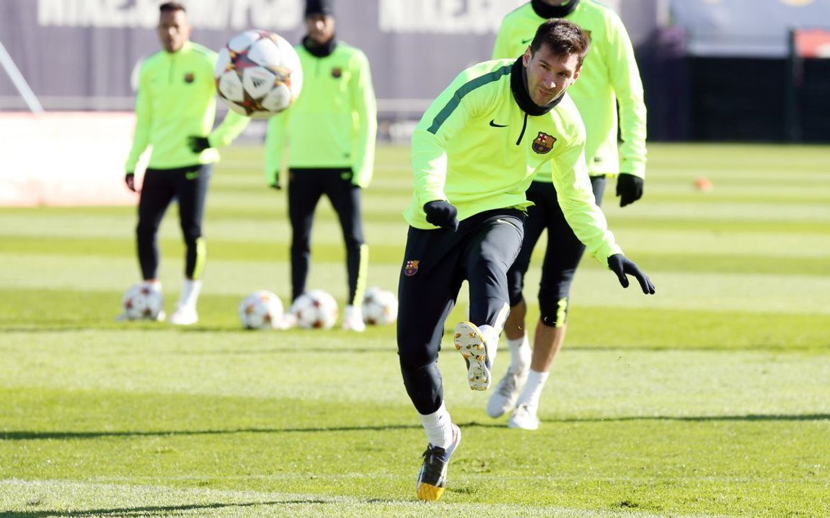 Training ahead of clash with PSG