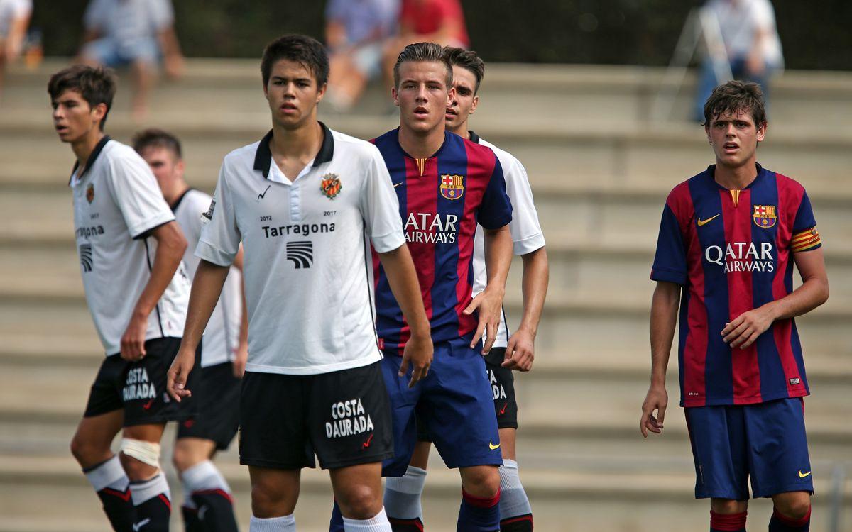 Gimnàstic de Tarragona-Juvenil A: Sense sort a les àrees (1-0)