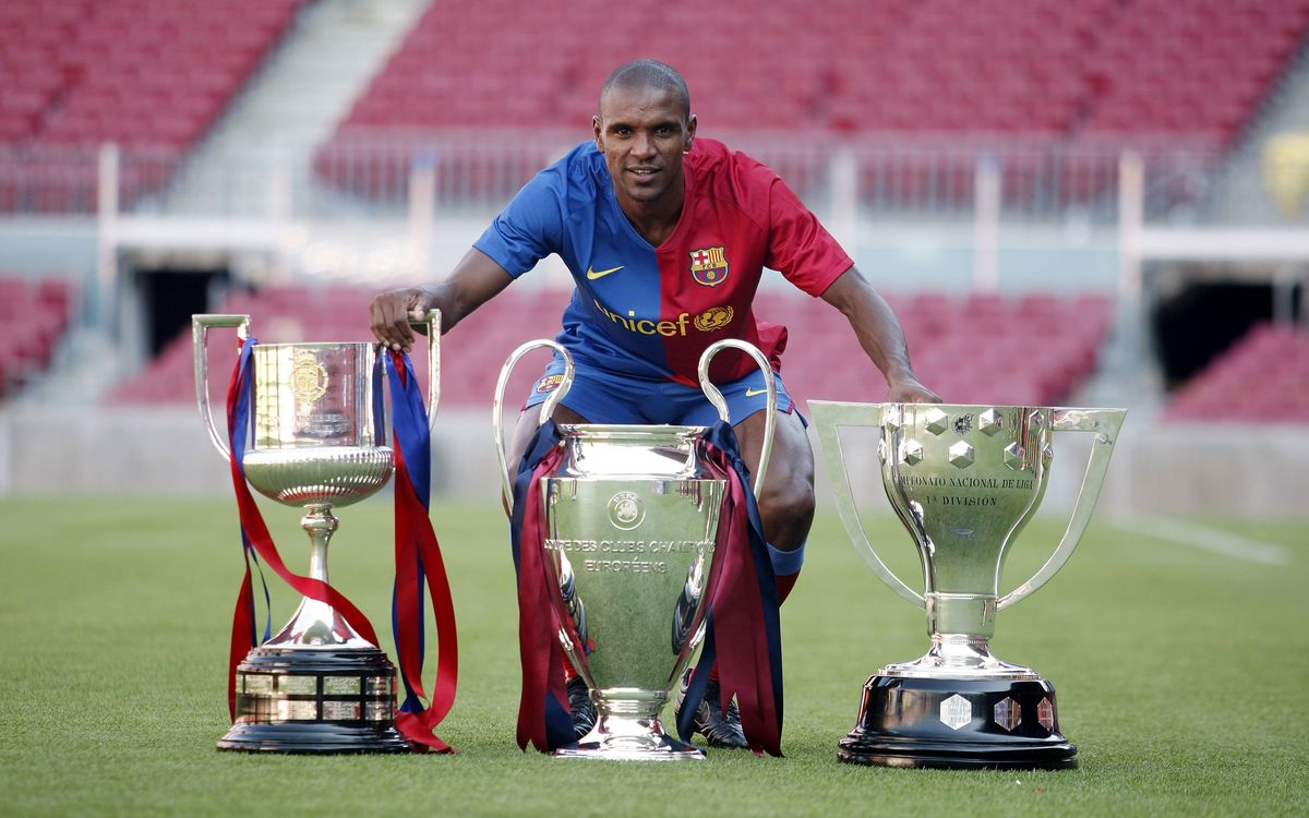 Éric Abidal won it all at FC Barcelona