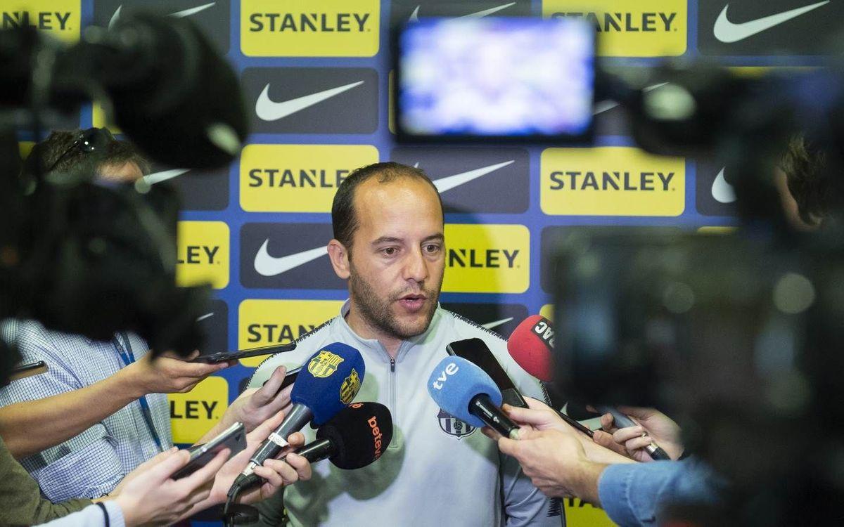 "Lluís Cortés: ""Vamos a Noruega a ganar el partido"""