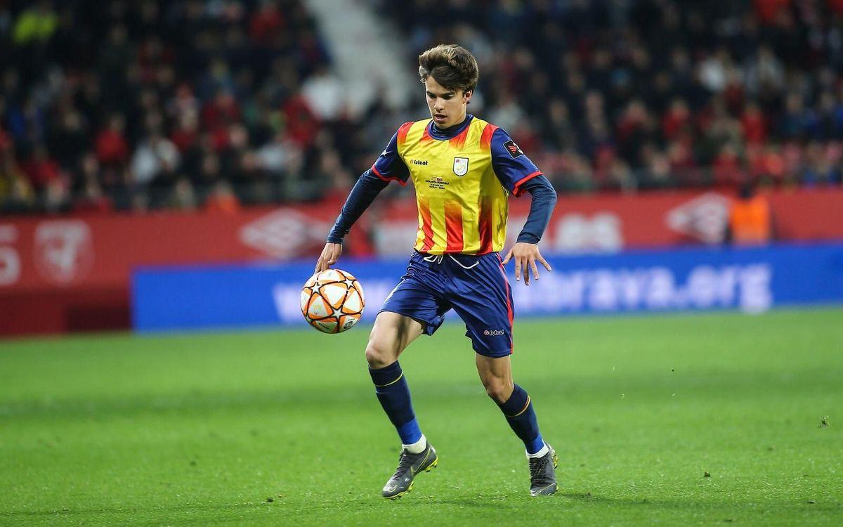 Riqui Puig ha debutat amb la selecció catalana absoluta - FCF