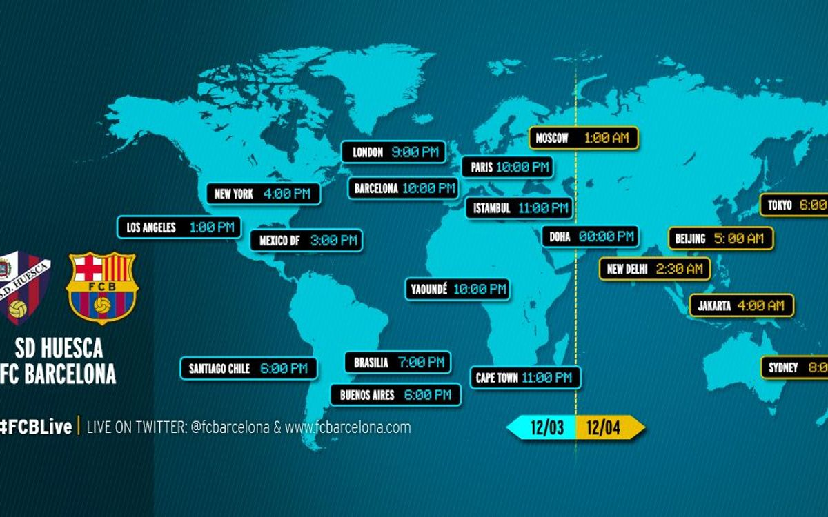 When and where to watch Huesca v FC Barcelona