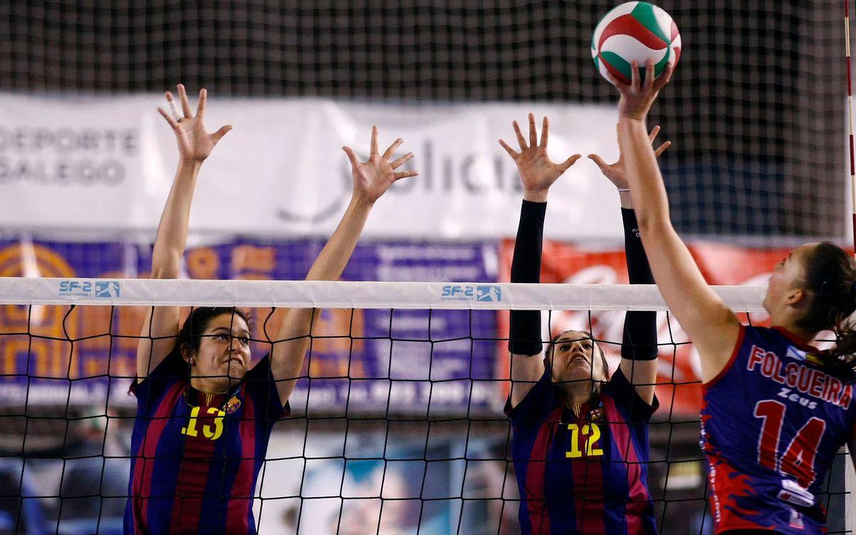 El CVB Barça manté les opcions per a la Copa (0-3)