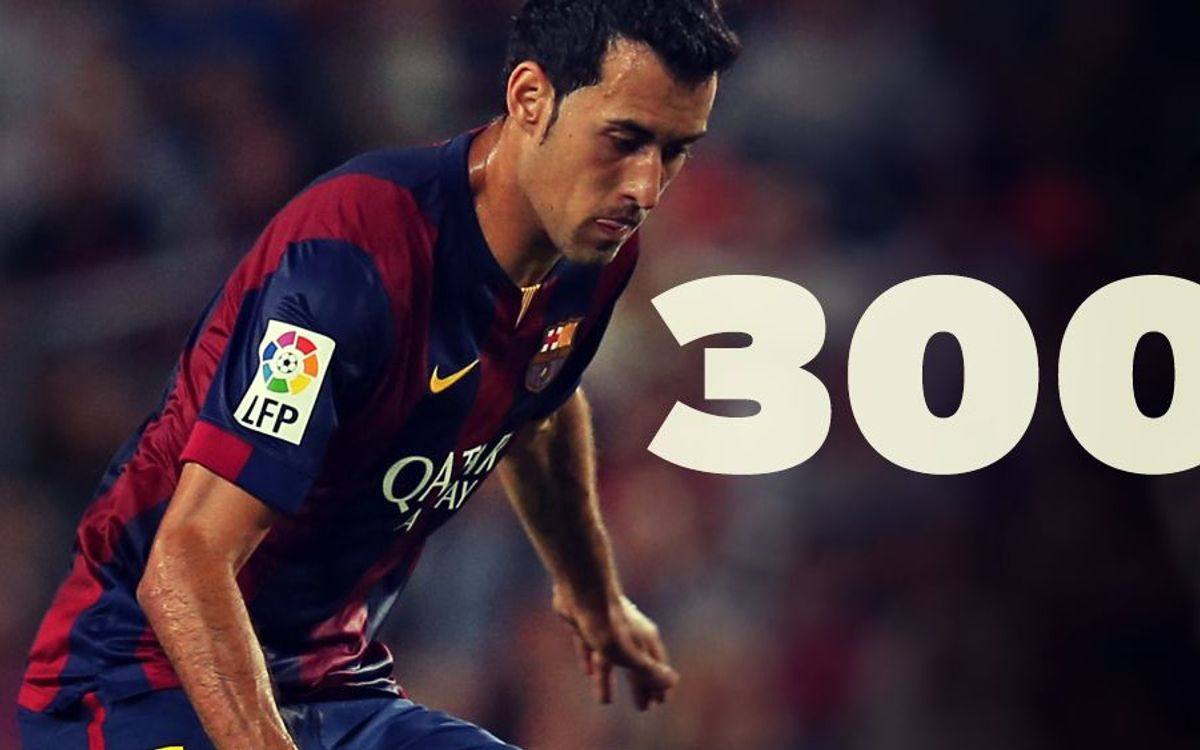 Sergio Busquets' 300 games in 5 key points