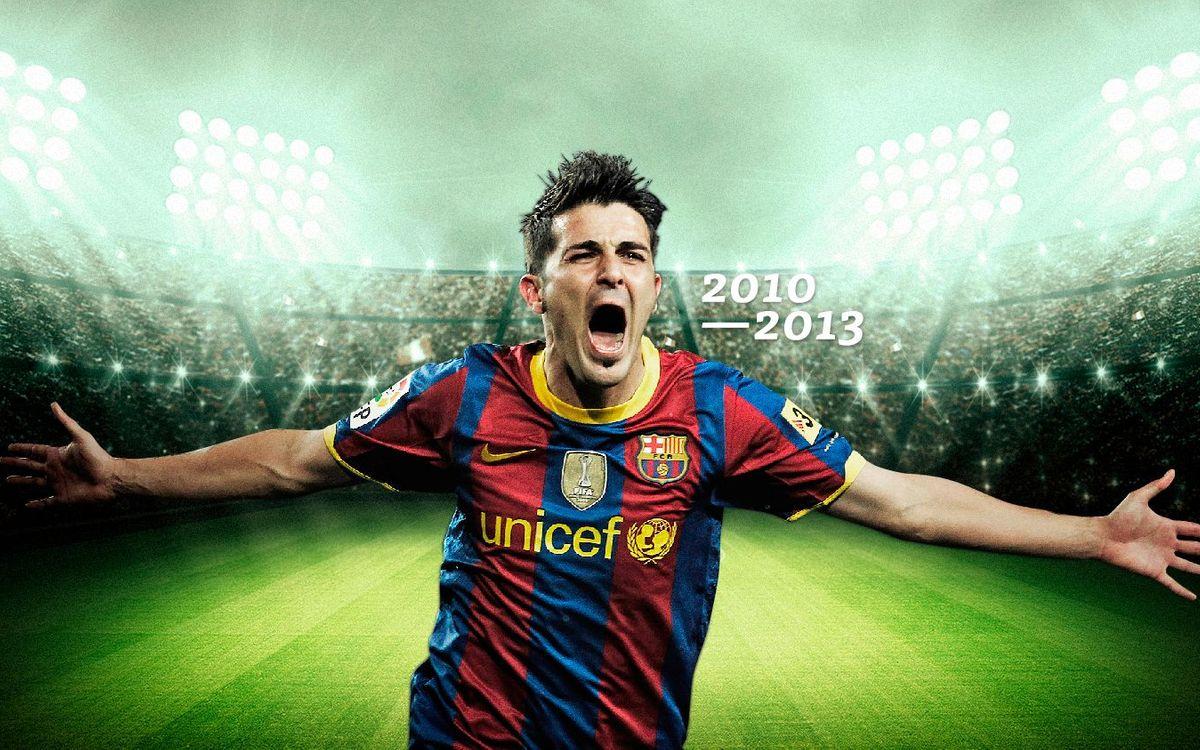 David Villa's goals