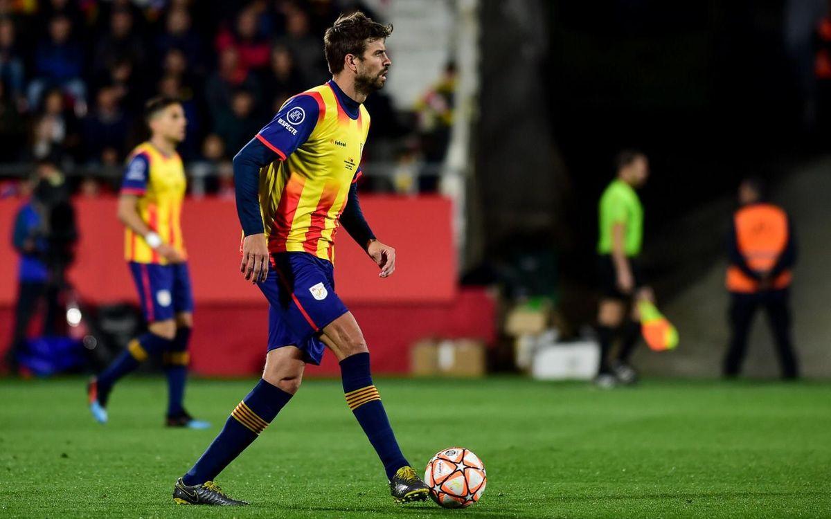 Piqué ha jugado el Catalunya - Venezuela - FCF