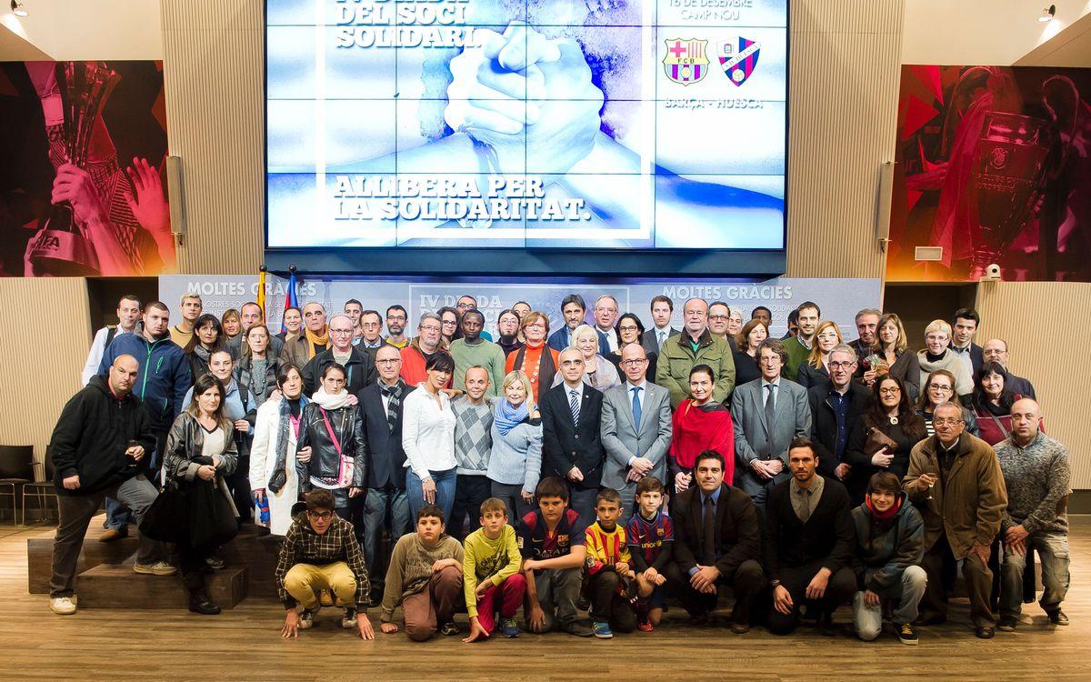 Acte d'agraïment a les entitats col·laboradores en la Diada del Soci Solidari