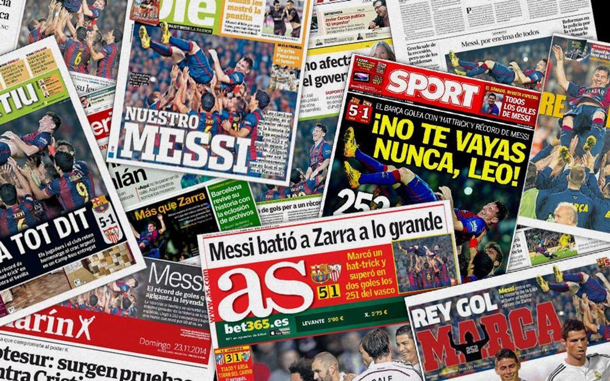 Messi makes global headlines