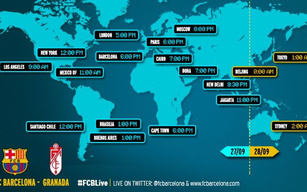 When and where to watch the Spanish League match between FC Barcelona v Granada