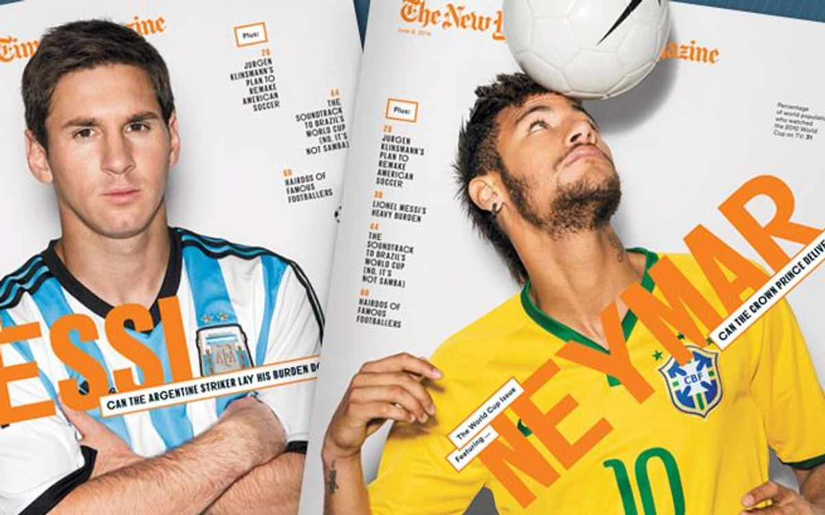 Messi, Neymar and Iniesta take center stage in The New York Times Magazine