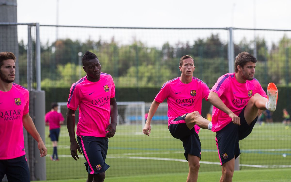 FC Barcelona B start training for 2014/15