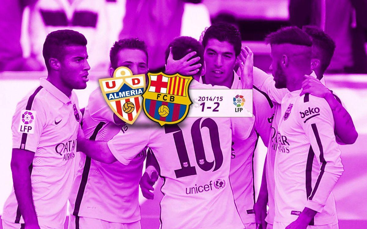 Almería: 1 - FC Barcelona: 2