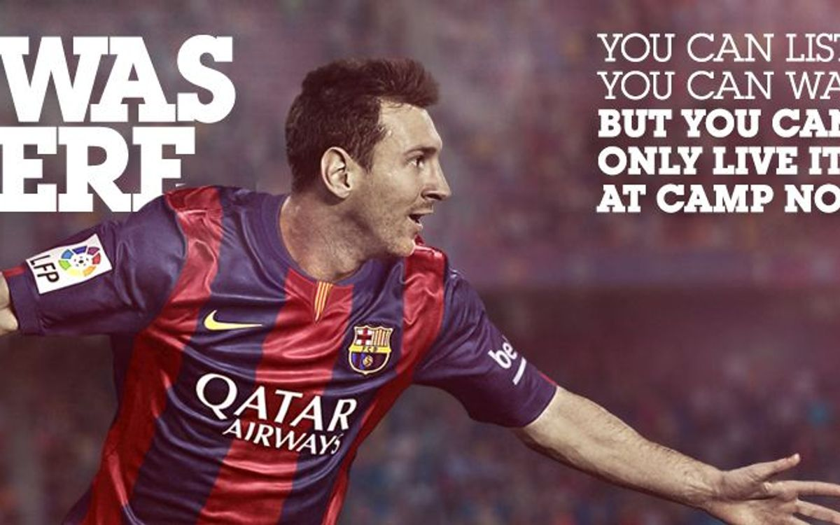#Iwasthere, new 'ticketing' campaign for the Camp Nou