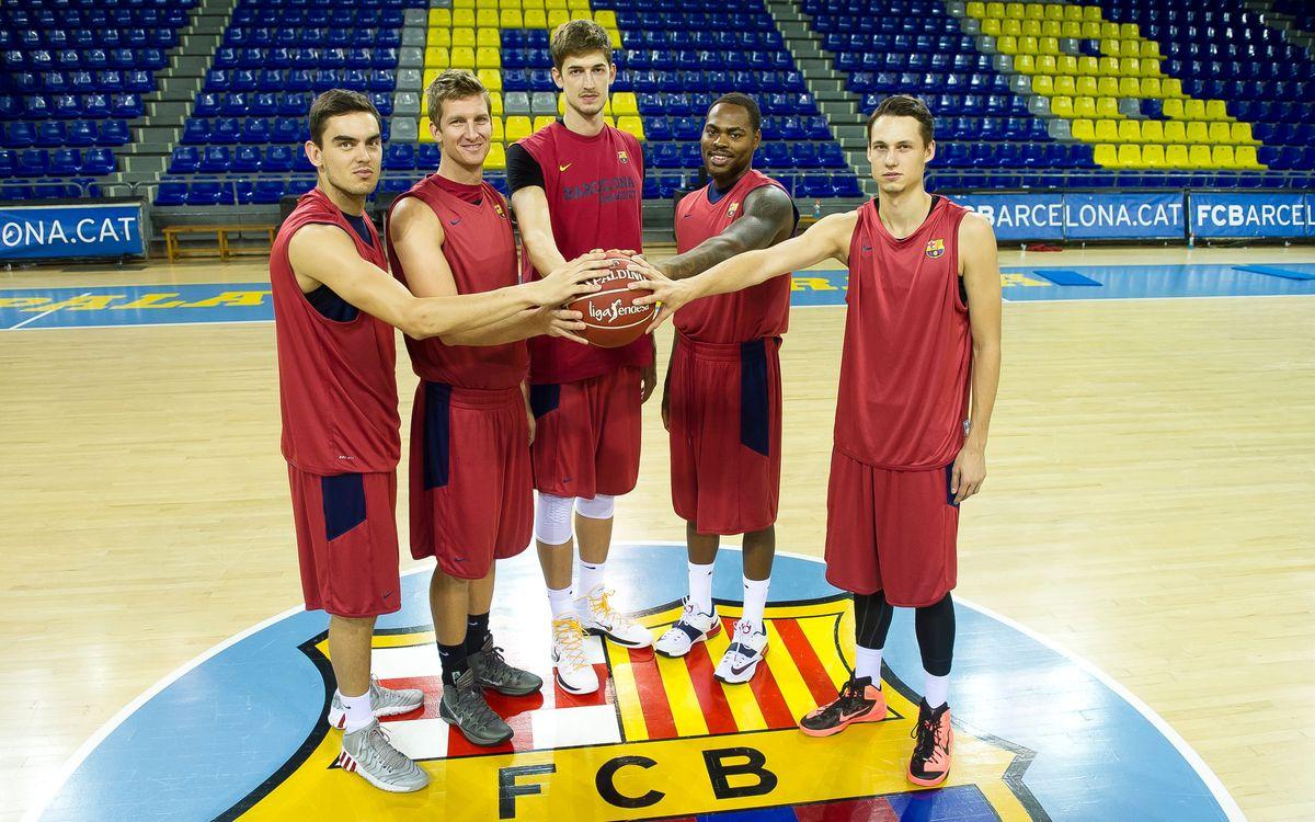 Les cinc cares noves del Barça de bàsquet, reunides al Palau