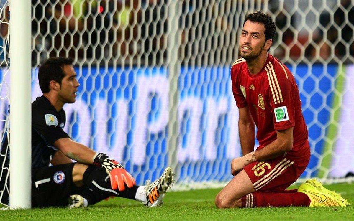 FC Barcelona players on international duty