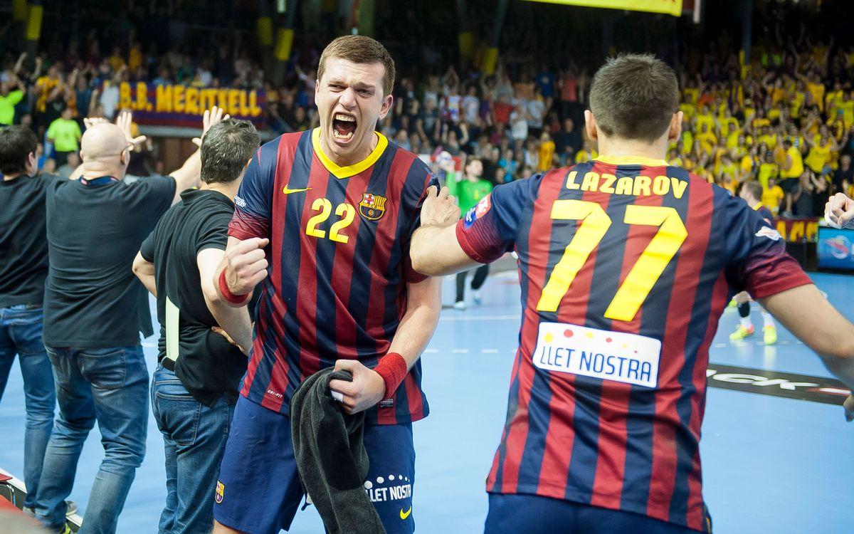 La darrera visita d'un equip alemany d'handbol al Palau Blaugrana
