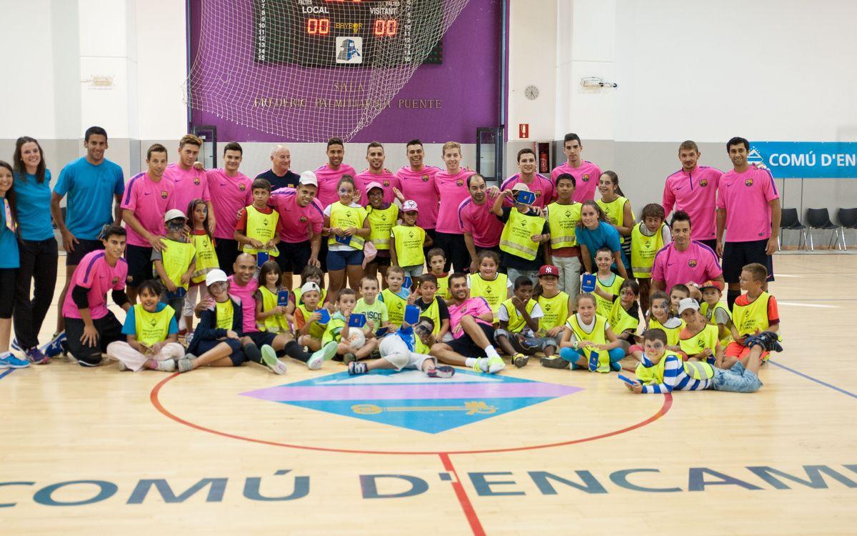 Los niños de Encamp disfrutan con el Barça