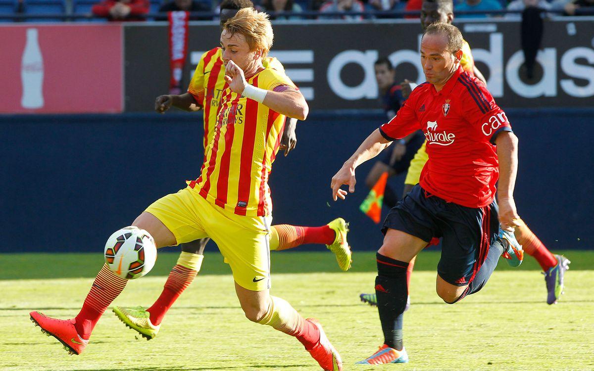 Osasuna – Barça B: Estrena amb derrota (2-0)