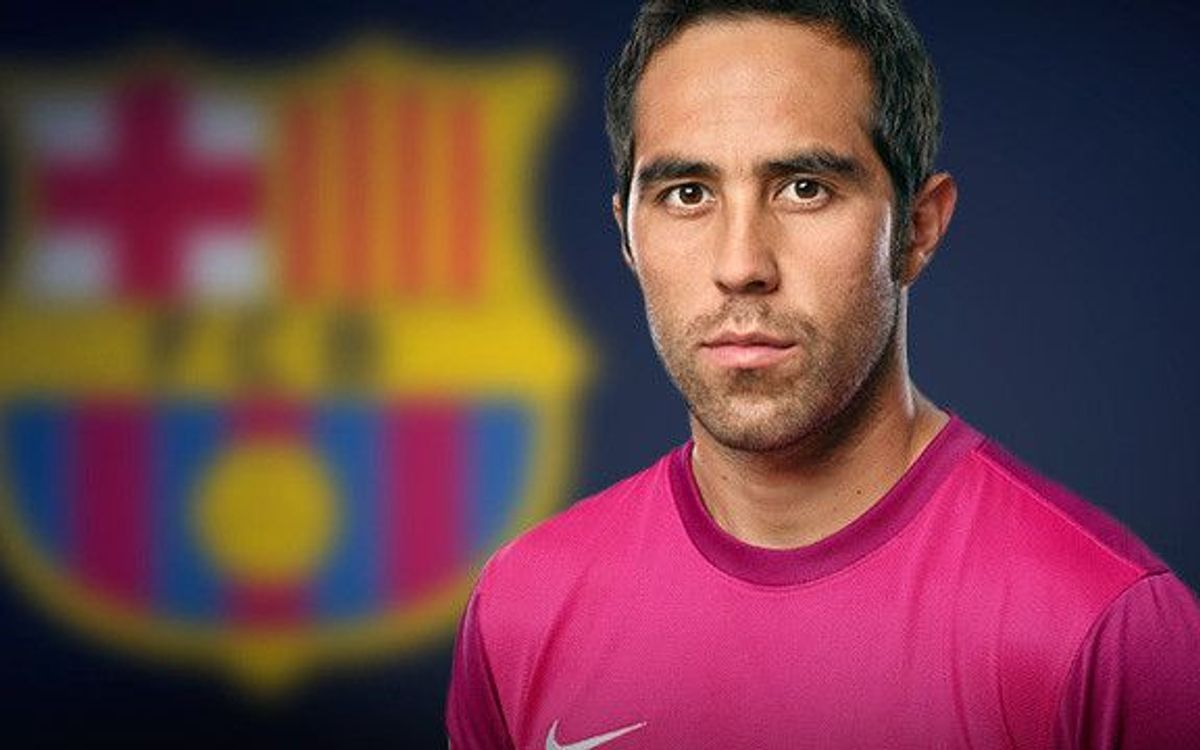LIVE- Official presentation of new Barça's player Claudio Bravo