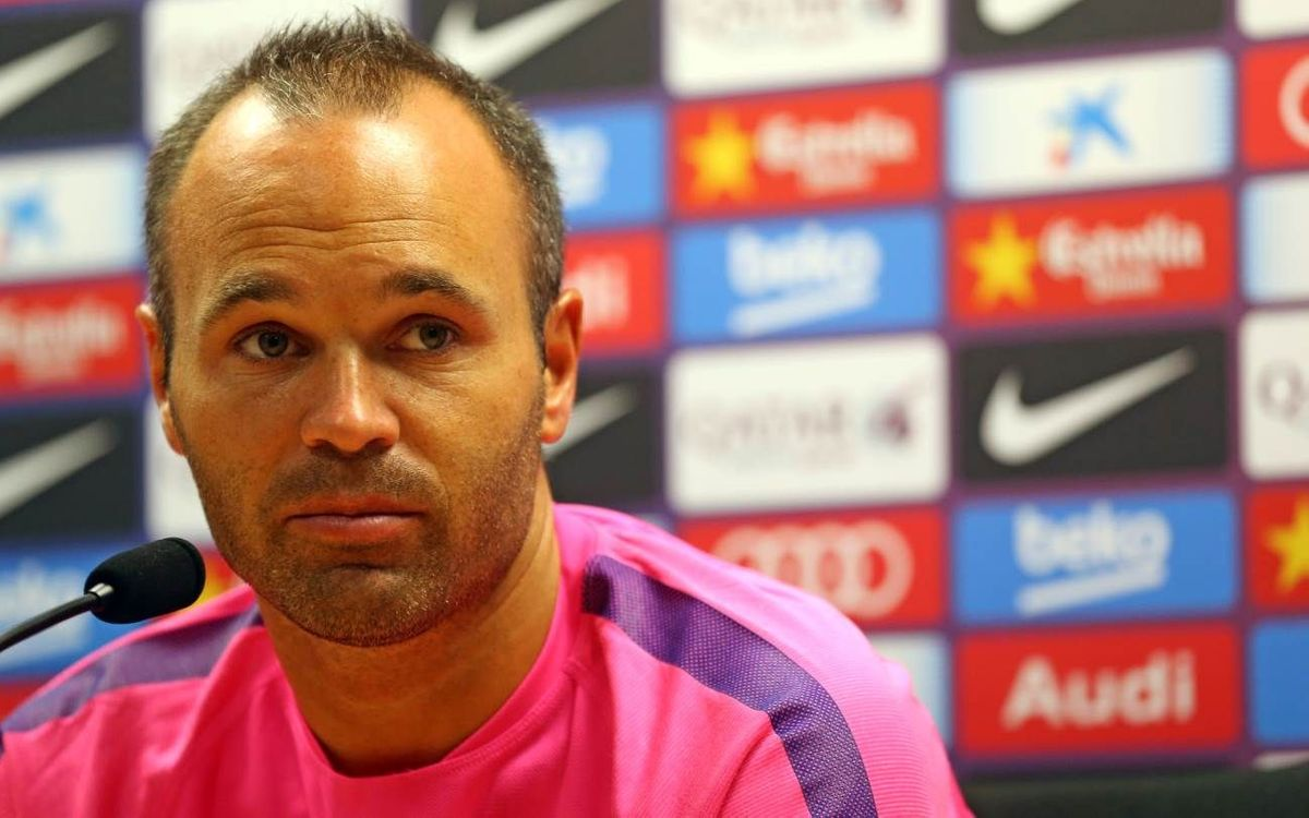 LIVE -Andrés Iniesta press conference