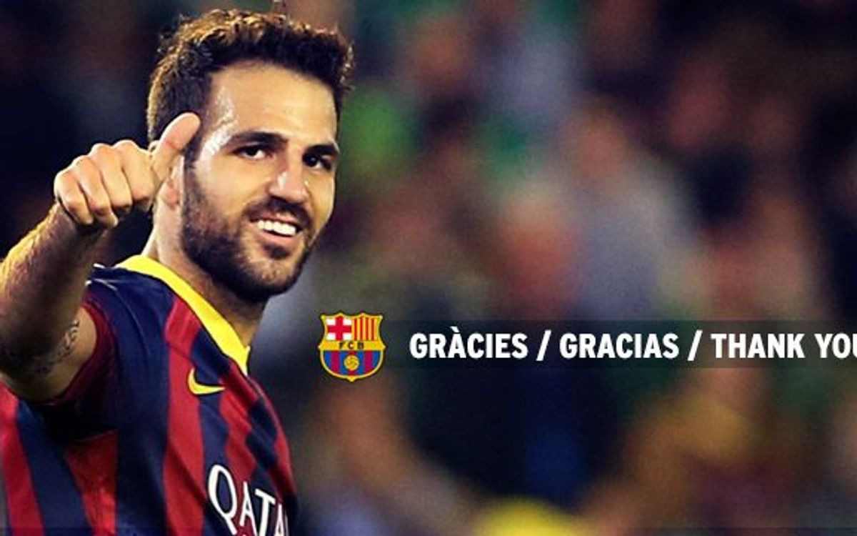 "Cesc Fàbregas: ""I have enjoyed three wonderful years"""