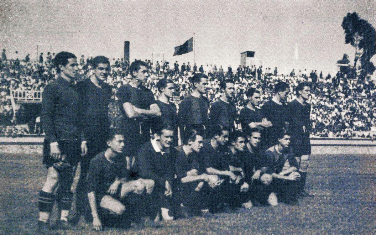 75 años de la reapertura del campo de Les Corts después de la Guerra Civil