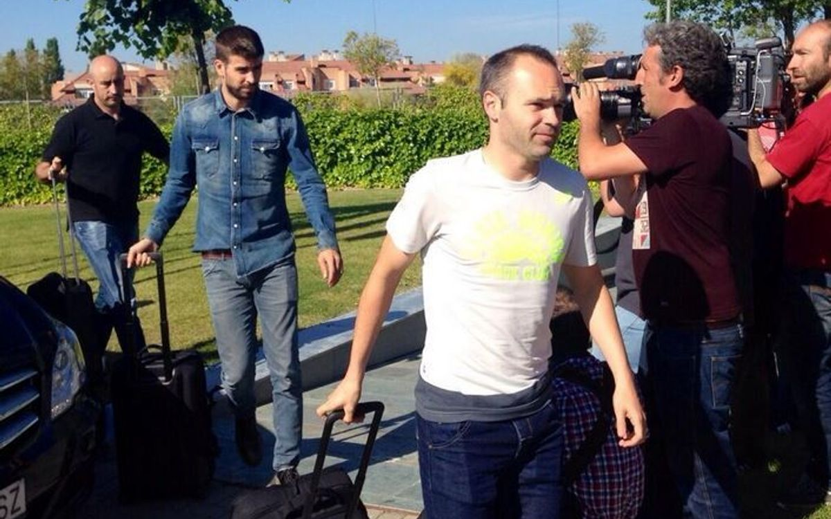 Spain travel to the United States with seven FC Barcelona players