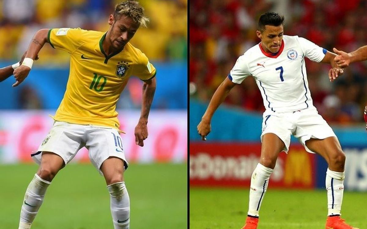 Brazil and Chile in fight for quarter final place