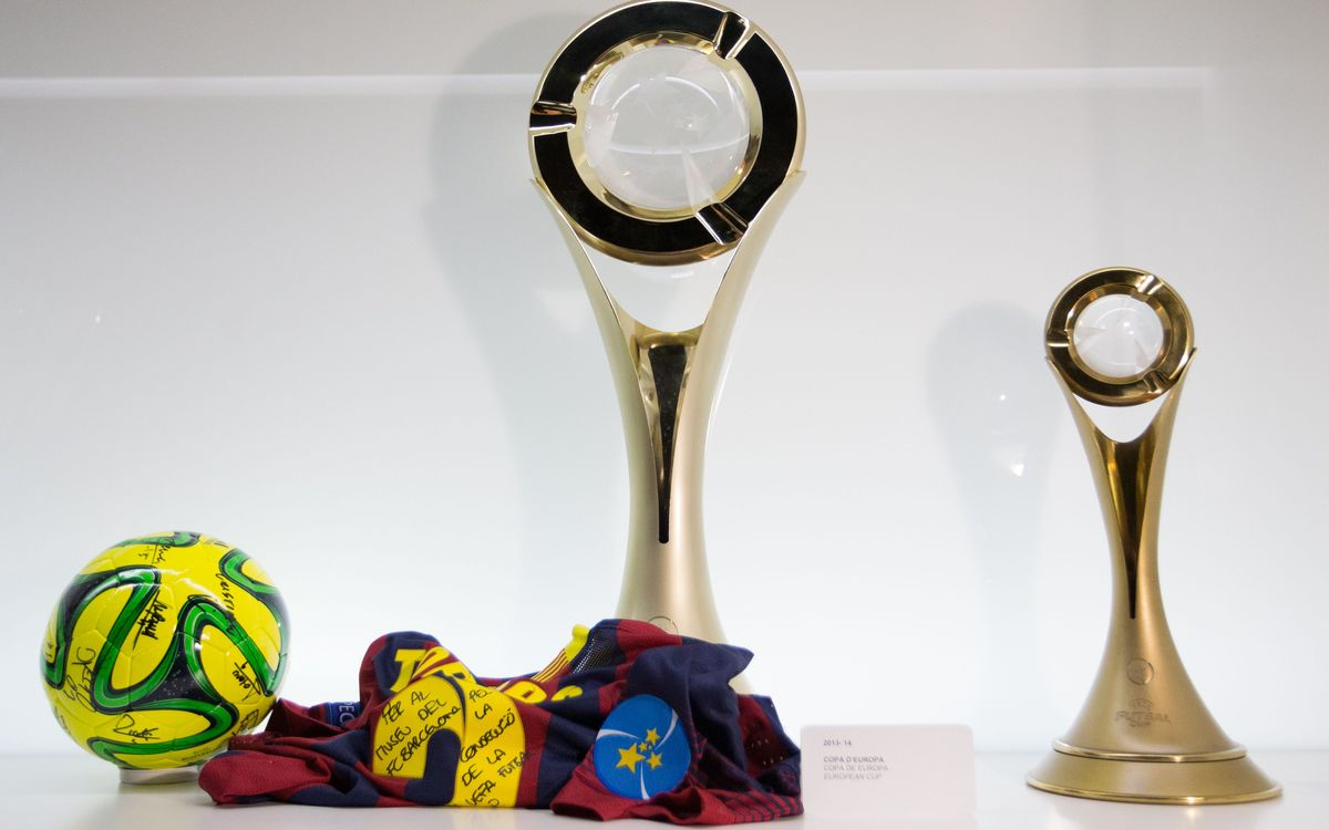 The UEFA Futsal Cup is installed in the Museum