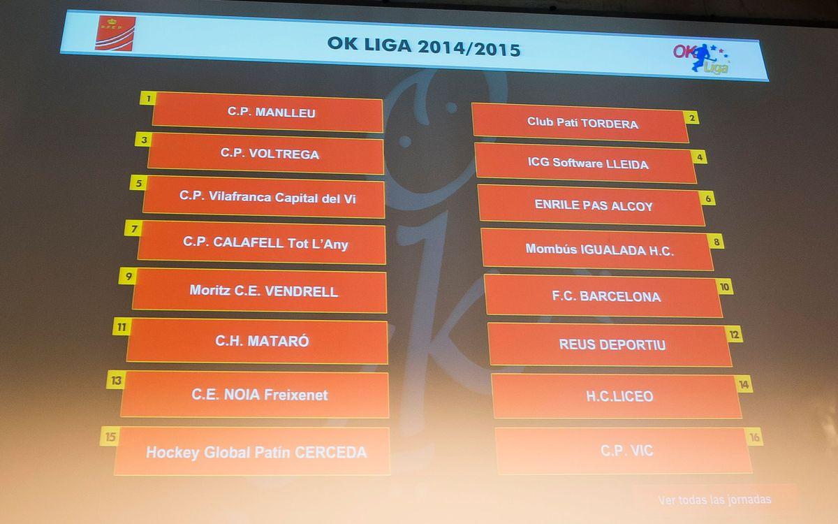 El Barça debutarà a l'OK Lliga 2014/15 a la pista del Moritz Vendrell