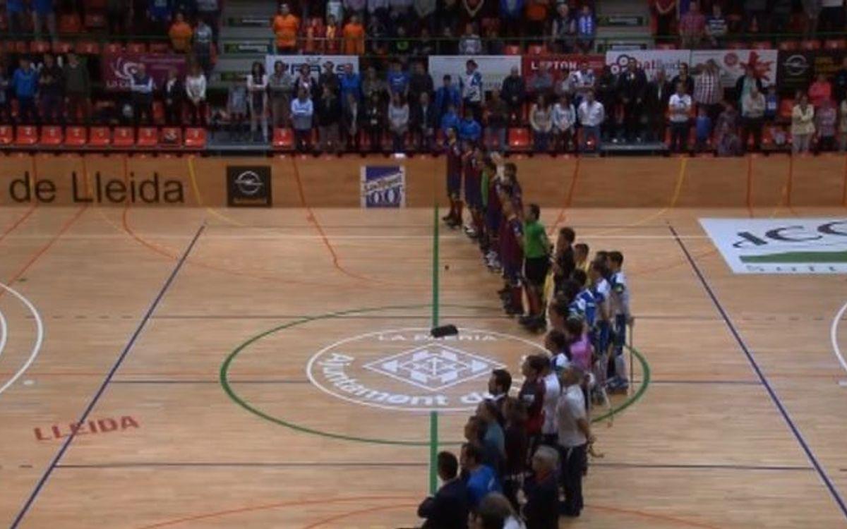El Lleida - Barça, en dos minuts
