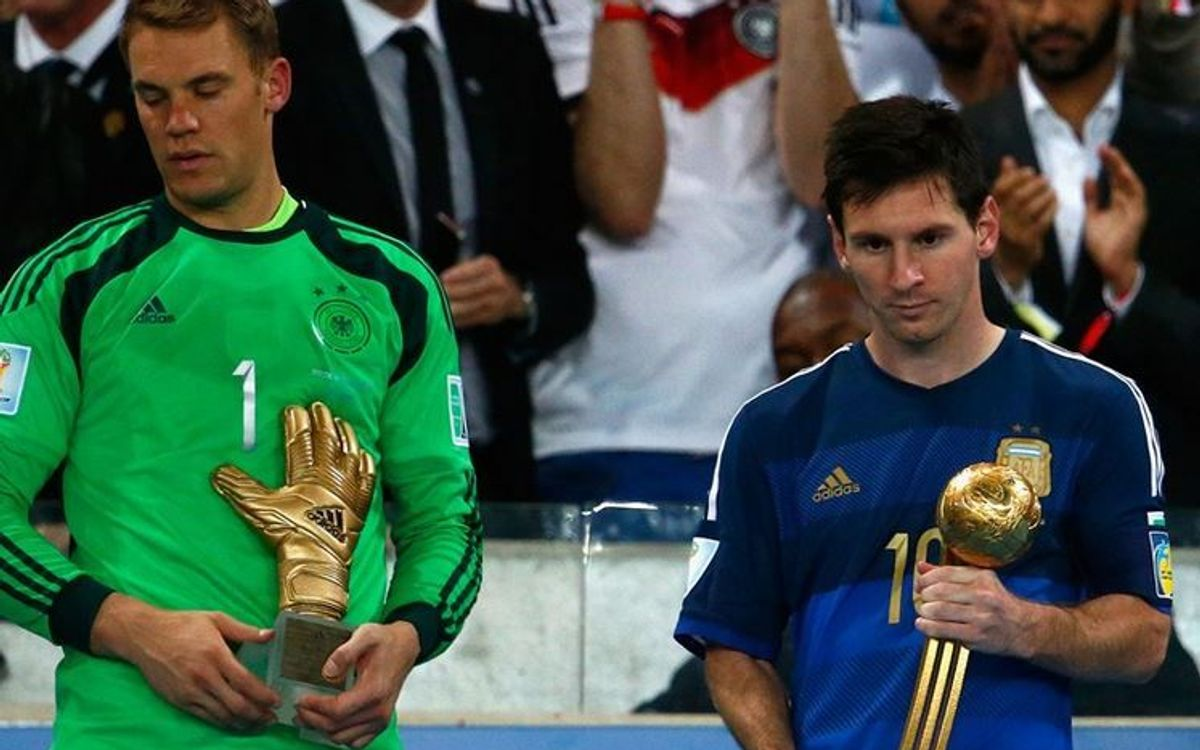 Leo Messi wins the Golden Ball of the 2014 World Cup
