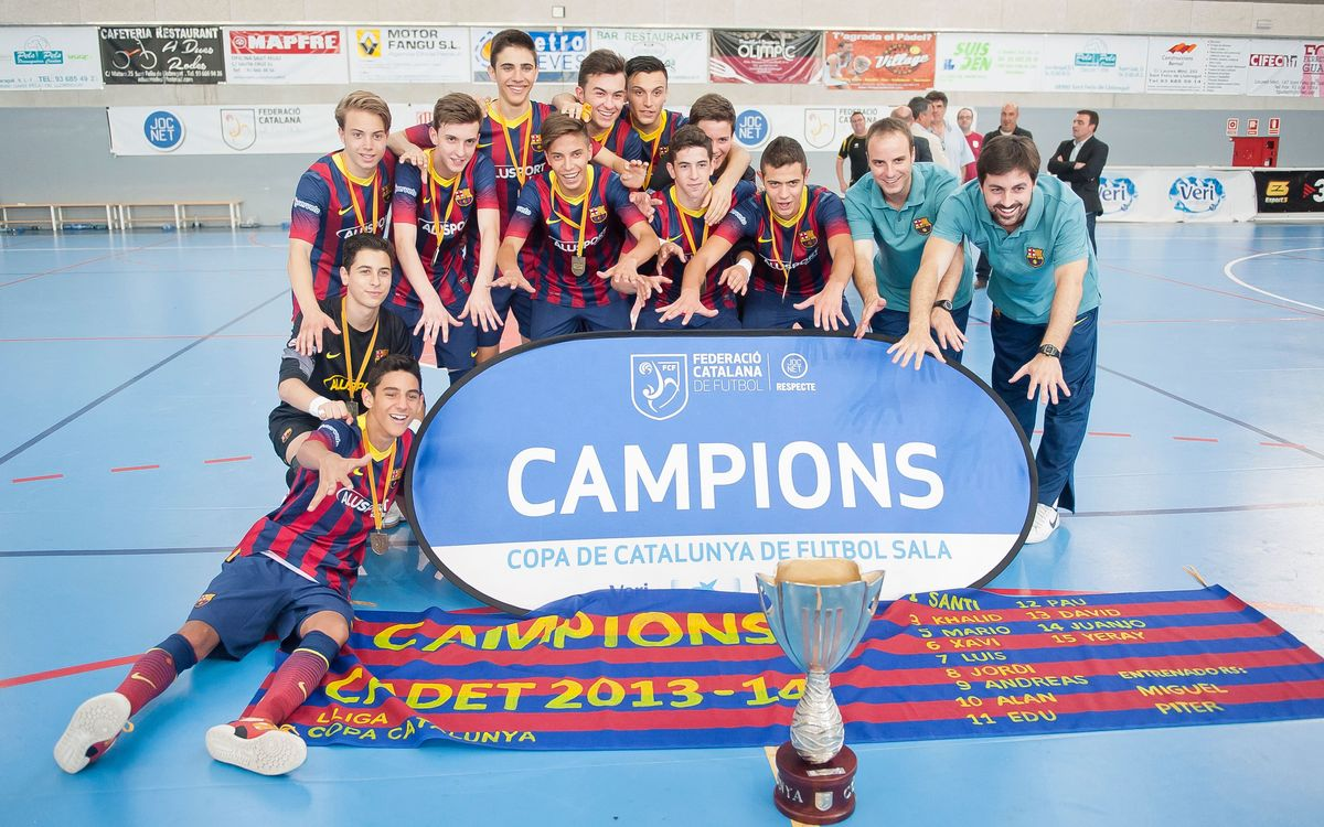 El Juvenil campeón de la Copa de España y el Cadete de la Copa Cataluña