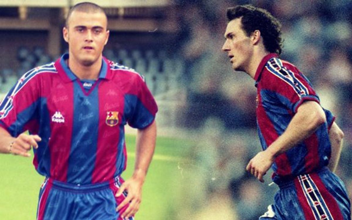 Laurent Blanc and Luis Enrique: 33 games together at FC Barcelona