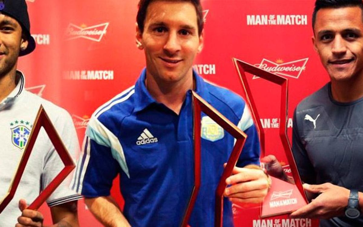 Three Man of the Match awards for FC Barcelona