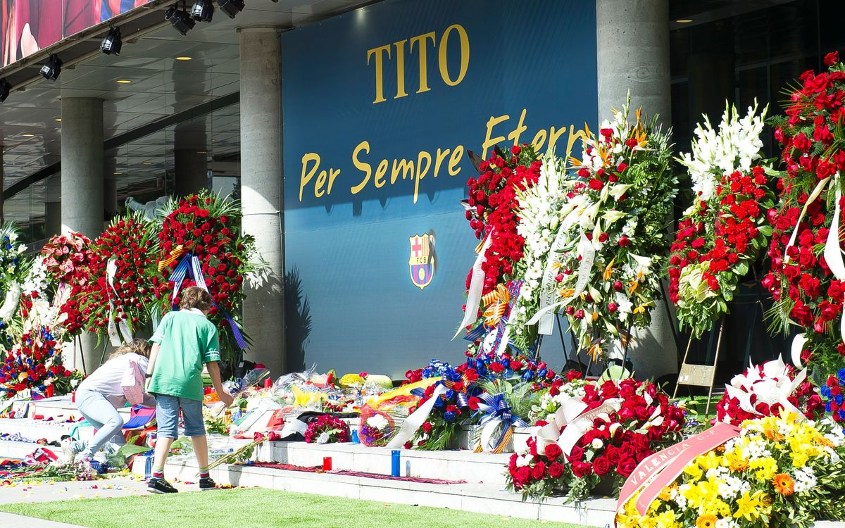 Supporters Clubs, mourning Tito Vilanova