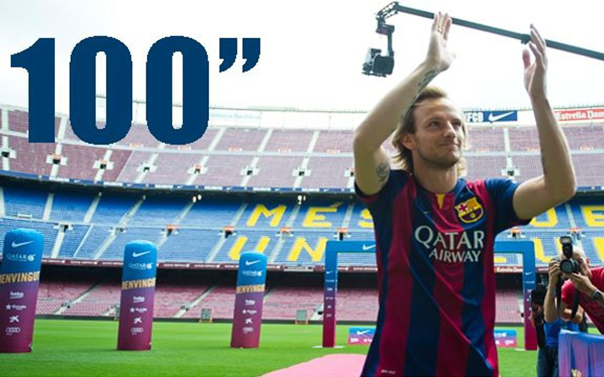 Rakitic's presentation in 100 seconds
