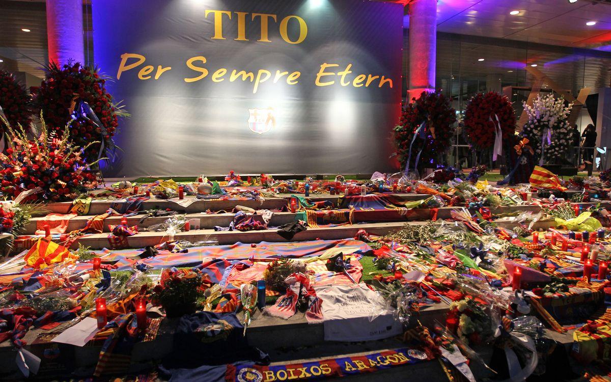 El espacio de condolencias del Camp Nou, abierto el domingo de 9 a 15 horas