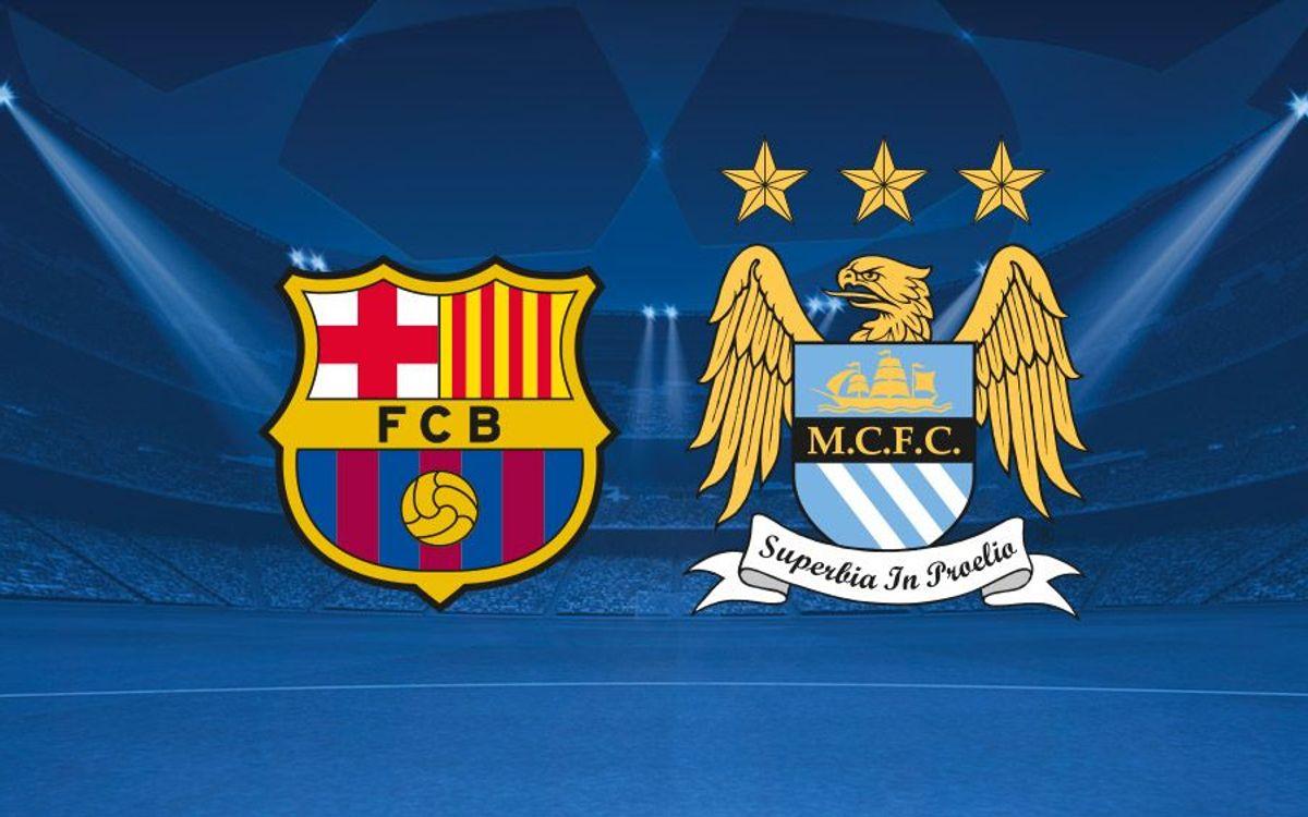 Le FC Barcelone affrontera Manchester City en Ligue des Champions