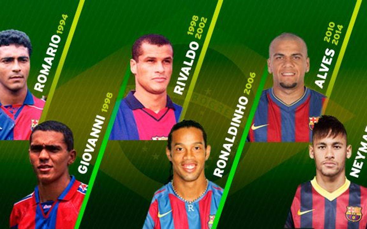 Seis brasileños del Barça en la historia de los Mundiales