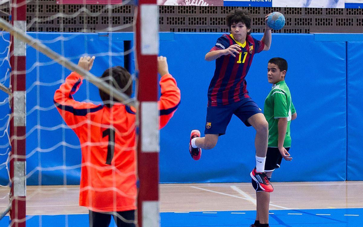 El sector infantil d'handbol, a la Ciutat Esportiva