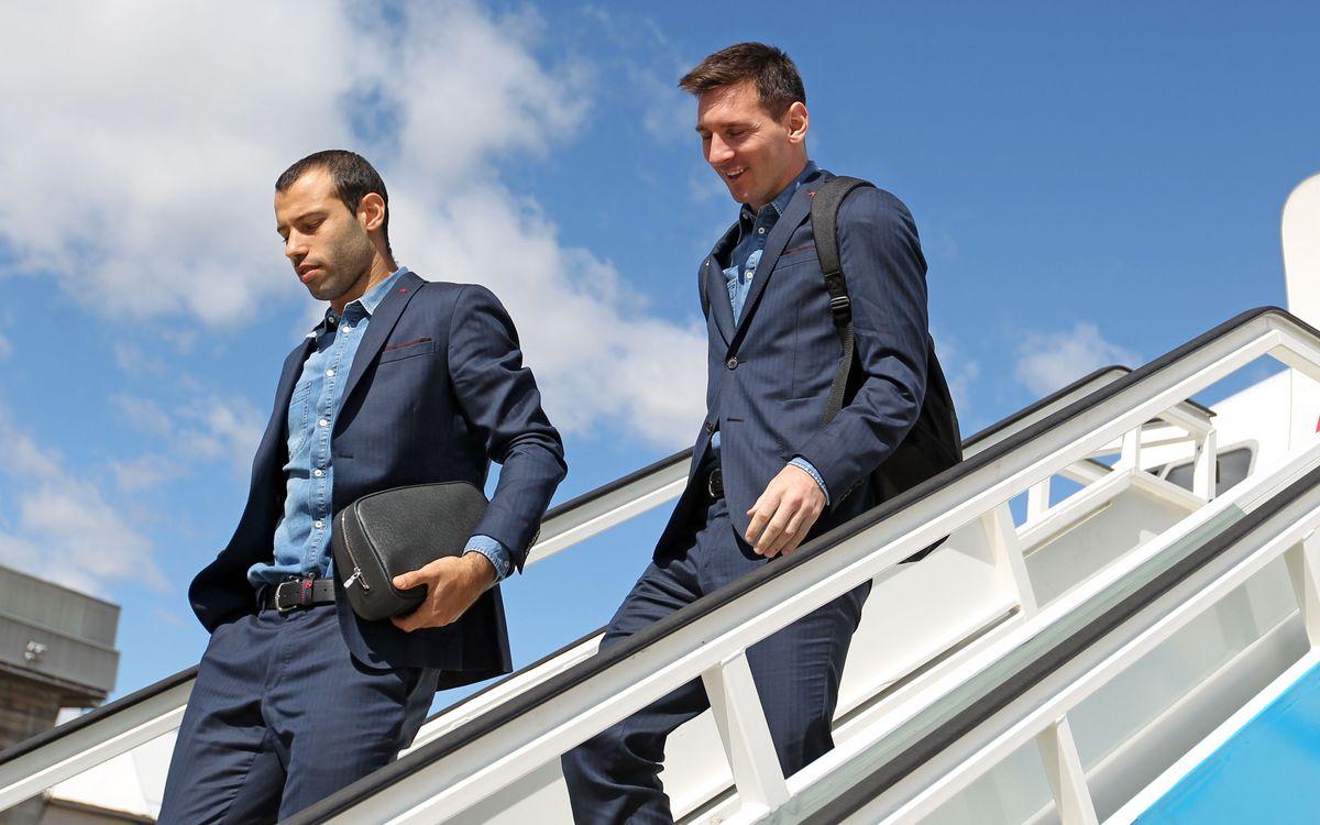 FC Barcelona arrive in Granada
