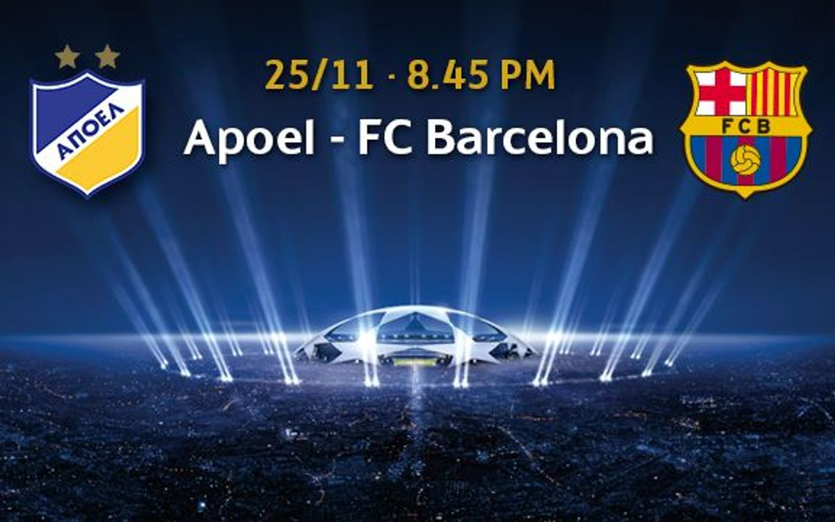 APOEL v Barça, tickets from November 10